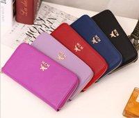 Wholesale Hot Sale Women clutch zipper purse women MCM wallet purses and handbags designer MCM Genuine leather wallet with box