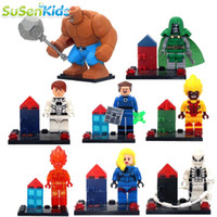 Wholesale Hot Fantastic Four Super Hero Kid Baby Toy Mini Figure Building Blocks Sets Model Toys Minifigures Brick
