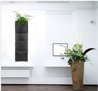 Wholesale Novelty Pockets Vertical Garden Planter Wall mounted Hanging Flower Pots Living Indoor Wall Planter