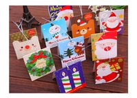 anniversary musical card - Christmas Card Envelopes For Greeting Cards Christmas Greeting Cards Christmas Gifts New Crystal Snowman Bowknot Stockings Brooch Happy Cute