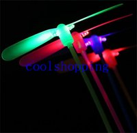 Wholesale LED Luminous flying light up toys flashing Bamboo Dragonfly Electronic Cheap kids gift party decoration