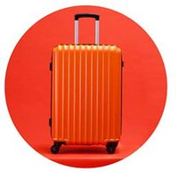 Wholesale bromen Trolley theft zipper luggage suitcase caster mirror password Trolley Hard luggage inch Orange