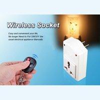 Wholesale IR Wireless AC V W Remote Control Plug Power Switch Outlet Socket