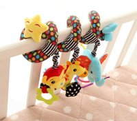 Wholesale baby children toddle Musical Stars Multifunctional Car bed Hanging Ded Bell Baby toys Educational Toys Rattles