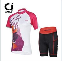 Wholesale High quality cheji women s cycling Jersey set short sleeve top short bicycle wear clothing with anti UV breathable and quick dry fabric