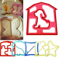 Wholesale Hot Sales Sandwich Toast Cookies Cake Bread Biscuit Food Cutter Mould Tools Bakeware DIY Plastic CX311
