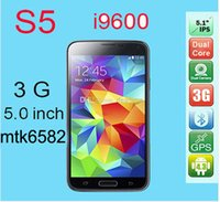 Wholesale S5 Quad Core Android Cell Phone MTK6582 GHZ GB RAM GB ROM With Inch IPS Screen G Phone DHL EMS Free