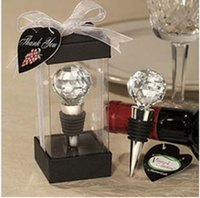 Wholesale Big discount Chrome red wine alloy Bottle stoppers Wedding Favor for wedding festival party Decoration DHL
