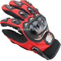 Wholesale J G Chen Newest Motorcycle Gloves MOTO Gloves Black Red Blue Short Sports Leather Winter Gloves