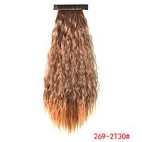 Wholesale Pat circle color corn corn hot long curly light brown ponytail T30 a generation of fat