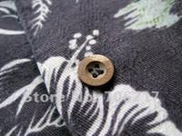 aloha wear - off per order Aloha Shirt Short Sleeved Leaves Printed Hawaii beach wear Retail and Mix Order