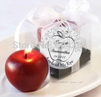 apple wedding favors - 30pcs personalized wedding favors and gifts for guests souvenirs quot Apple of My Eye quot Candle baby show