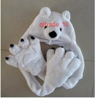 Wholesale 300 BBA5003 winter Unisex gifts Fashion animal hats paw gloves syncretic plush hats tiger Scarves Gloves Sets Animal hat scarf Paw gloves
