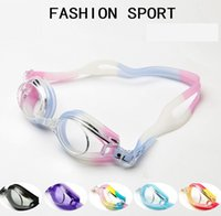 Wholesale 10pcs colors High Quality Antifog UVstop Swimming Goggles Glasses Adjustable Adult Unisex Men And Women Coating Goggles