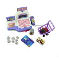 Wholesale Creative Baby Child Educational Toy Pretend Play Register Scanner Supermarket Cash Toys Educational Toy