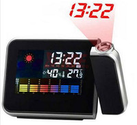 Wholesale New Arrive Attention Projection Digital Weather LCD Snooze Alarm Clock Projector Color Display LED Backlight