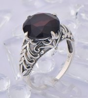 pomegranate - 925 sterling silver Victoria style pomegranate zircon female ring fashion palace delicate gem ring of jewelry