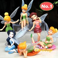 age - 6pcs set new tinkerbell fairy Adorable tinker bell action figure anime toy classic toys for children High Quality PVC