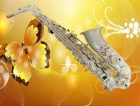 Wholesale Import Falling Tune E alto saxophone silver surface saxphone