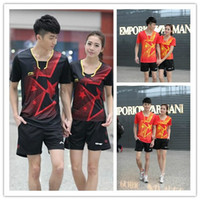 badminton skirt - New style LiNing Table Tennis T shirt Badminton Clothes Women Men Sports running suit Tennis skirts