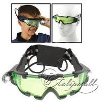 Wholesale Night Vision Glasses NO Night Vision Goggles With Flip out Blue LED Lights Adjustable Elastic Bands For A comfortable Fit