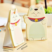 Wholesale New Fashion Cute Korean Sticky Stationery Creative Notes Lucky Cat HOT