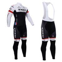 trek - SPRING SUMMER CYCLING LONG JERSEY ROPA CICLISMO BIB PANTS TREK FACTORY RACING PRO TEAM BLACK WITH D GEL PAD PICK SIZE XS XL