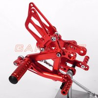 adjustable foot rest - Rearsets Foot Rests Rear Set For KAWASAKI ZX6R Motorcycle Foot Pegs A New Aluminum alloy Red CNC Adjustable