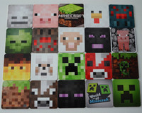 t cups - 8 cm AAA quality New Arrival Minecraft Coasters Cup Pad Mat Minecraft toys Minecraft Supplies insulation coaster A