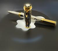 Wholesale gmkjyh6 Princess Grace de Monaco Grace Kelly Silver Flower pen roller pen Come With Original Box