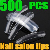 Wholesale Clear French Acrylic False Nails UV Gel Polish Nail Art Beauty Tips For Salon Extra Long DIY Tools Hot