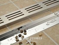 Wholesale Newly Nickel Brushed Bathroom Floor Drain cm Stainless Steel Shwoer Strainer Ground Drain
