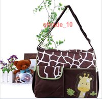 Wholesale 5 BBA5621 animal diaper bags Large Capacity mummy bag nappy bag zebra giraffe bag Multifunction storage bags Cross Body Bags handbag totes