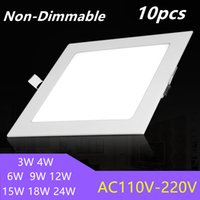 Non-dimmable LED carrés Voyants du panneau de DHL 3W 4W 6W 9W 12W 15W 18W encastré LED plafonnier LED Down Light AC 85-265V