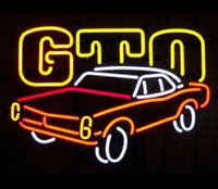 Wholesale GM PONTIAC GTO NEON SIGN REAL GLASS TUBE CAR ADVERTISEMENT STORE DISPLAY MANCAVE BAR PUB GARAGE HOME DECORATION SIGN quot X14 quot