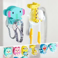 Wholesale cute Cartoon sucker toothbrush holder suction hooks Cute Cartoon sucker toothbrush holder Position Tooth Brush