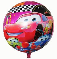 no minimum order - No minimum order inch Round Happy Birthday ballons decoration Cars Balloon for Party Supplies