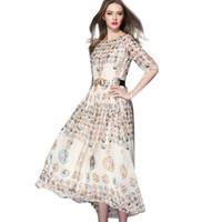 ancient greek dress - HDY Summer new Ancient Greek coins printed dress half sleeve dress Bohemian chiffon dress I