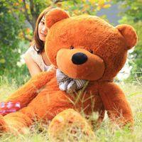 Wholesale New arrival FEET TEDDY BEAR STUFFED LIGHT BROWN GIANT JUMBO quot size cm birthday gift