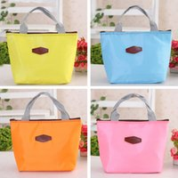 thermo - Promotion Candy Colors Portable Thermo Thermal Insulated Lunch Bag Carry Storage Picnic Bag Pouch Lancheira Pink Blue ZD0016 Smileseller