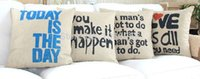 Wholesale Super quality Cotton Linen Pillow Case English Quotes Love is all you need Hold Cushion Cover Waist Pillowcase quot
