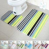 Wholesale Wholesales Bathroom Products Toilet Floor Mats Set Non Slip Bathroom Toilet Rugs Water Absorption Bathroom Carpet JI0018 Smileseller