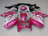 Wholesale NEW TOP quality INJECTION Mold ABS fairings gift Bolts FAIRING Set For KAWASAKI Ninja250R EX250 R Bodywork Cool Pink color