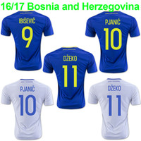 Wholesale Whosales Discount Bosnia and Herzegovina Soccer Jerseys Chandal Edin Dzeko Jersey Football Shirt Euro Cup A Quality PJANIC