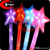 Wholesale 7 led Star Flash stick lamp cheering party props monochromatic glow sticks Pentagram Toys Gifts LED Lighted Toys Led Rave Toy pic