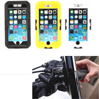Wholesale New Waterproof Shockproof Shell Bike Bicycle Phone Case for iphone case Handlebar Pouch Mount Holder Cases for iPhone6 inch