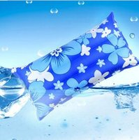Wholesale 50pcs printing inflatable travel water ice pillow cooling water pillow for the summer
