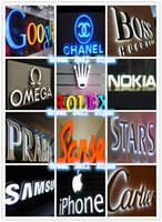 Wholesale EXterior signs d display signs LED custom logo channel letters brand logos words signs illuminated signage