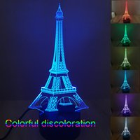 color changing night light - Hot Modern Lighting Led Smart Christmas Lights D LED Light Cubes Eiffel Tower Night Lights Led Color Changing Light Night Light Colorful