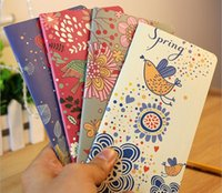 Wholesale Free ship pc flower and bird Notepad color nice Portable notebook pocketbook